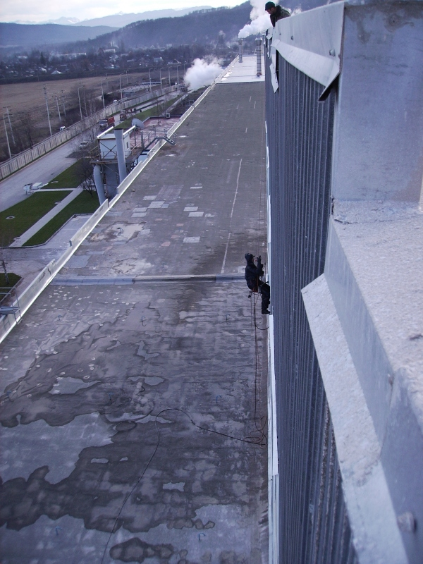 Очистка фасада Завода гипсо-картонных листов 2006 г